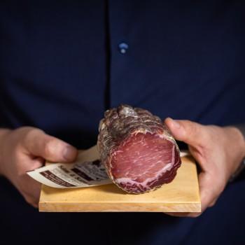 Piece of cured pork loin -...