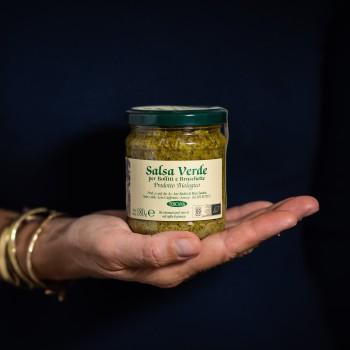 "Organic ""salsa verde"" green..."