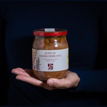 Zuppa di fagioli borlotti -...