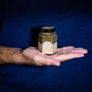 Paste aus Kapern und Oliven...