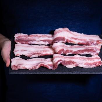 Casentino Grey Pork fresh Rigatino belly, sliced