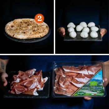 Mozzarella and ham pizza -...