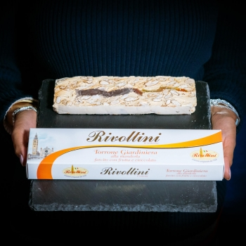 Almond nougat with mixed...